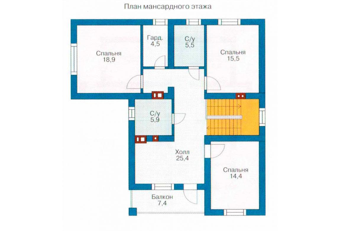 План N2 проекта кирпичного дома АСД-1021