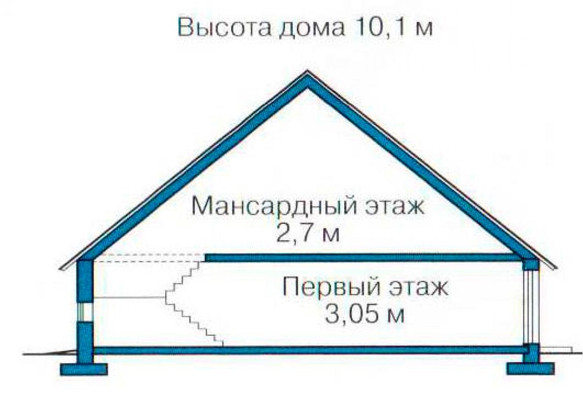 План N3 проекта кирпичного дома АСД-1021