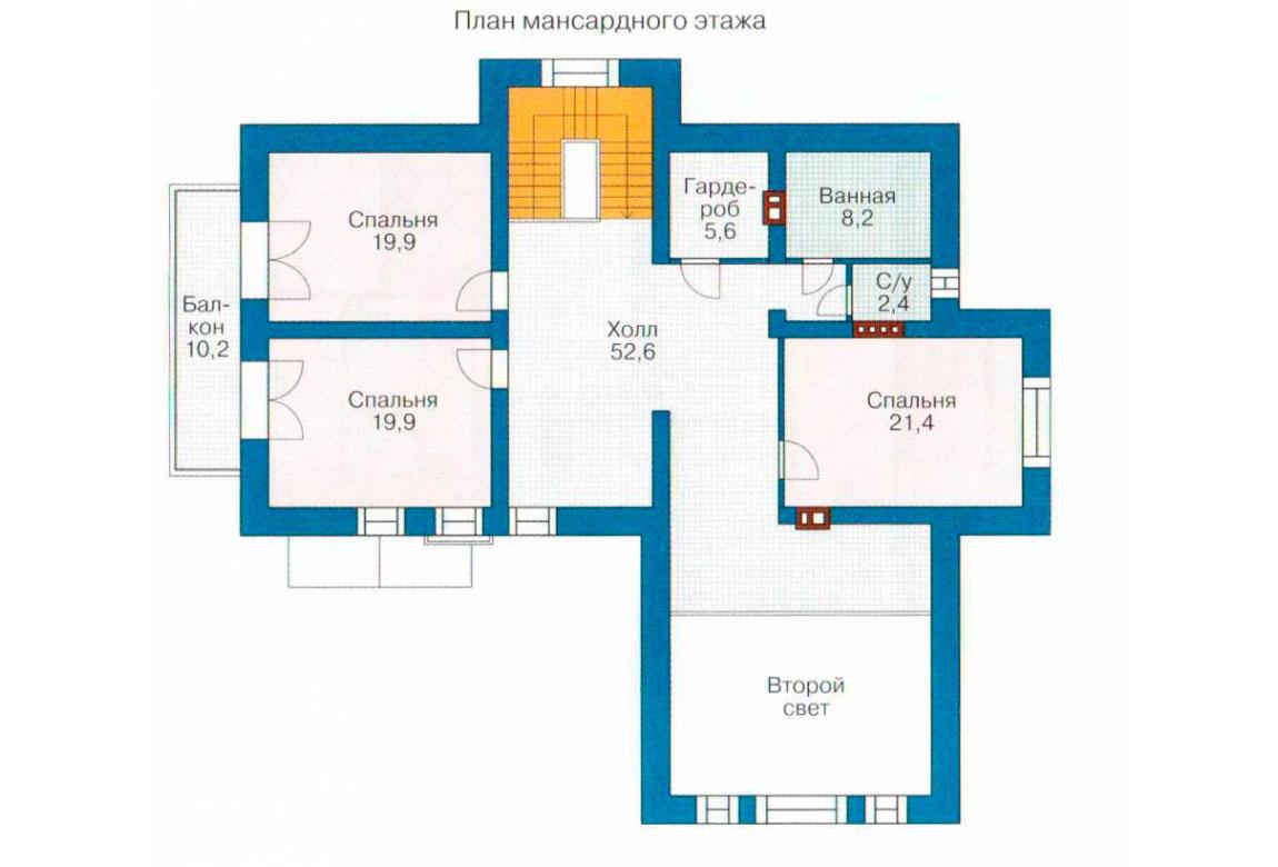 План N1 проекта дома из блоков АСД-1210