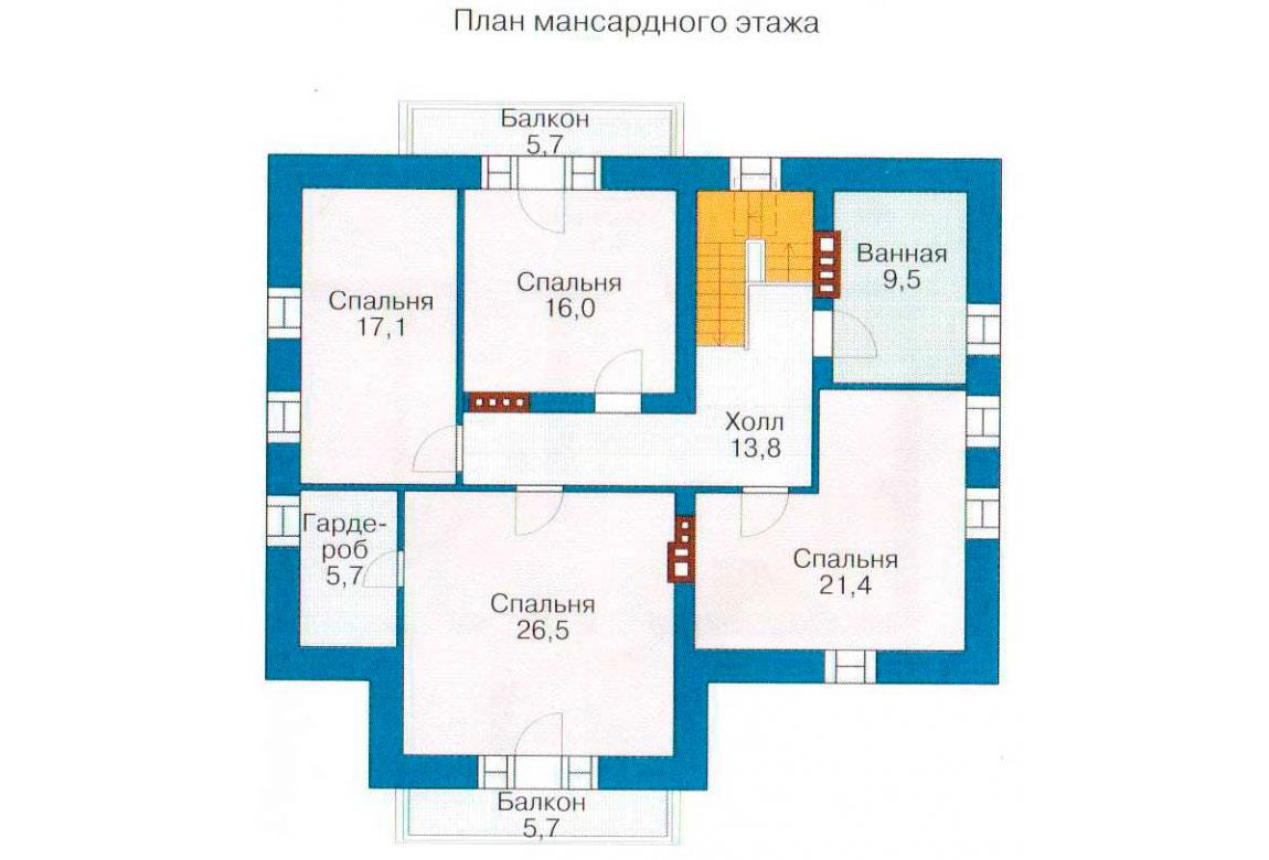 План N3 проекта дома из блоков АСД-1211