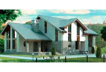 Проект дома из блоков АСД-1212