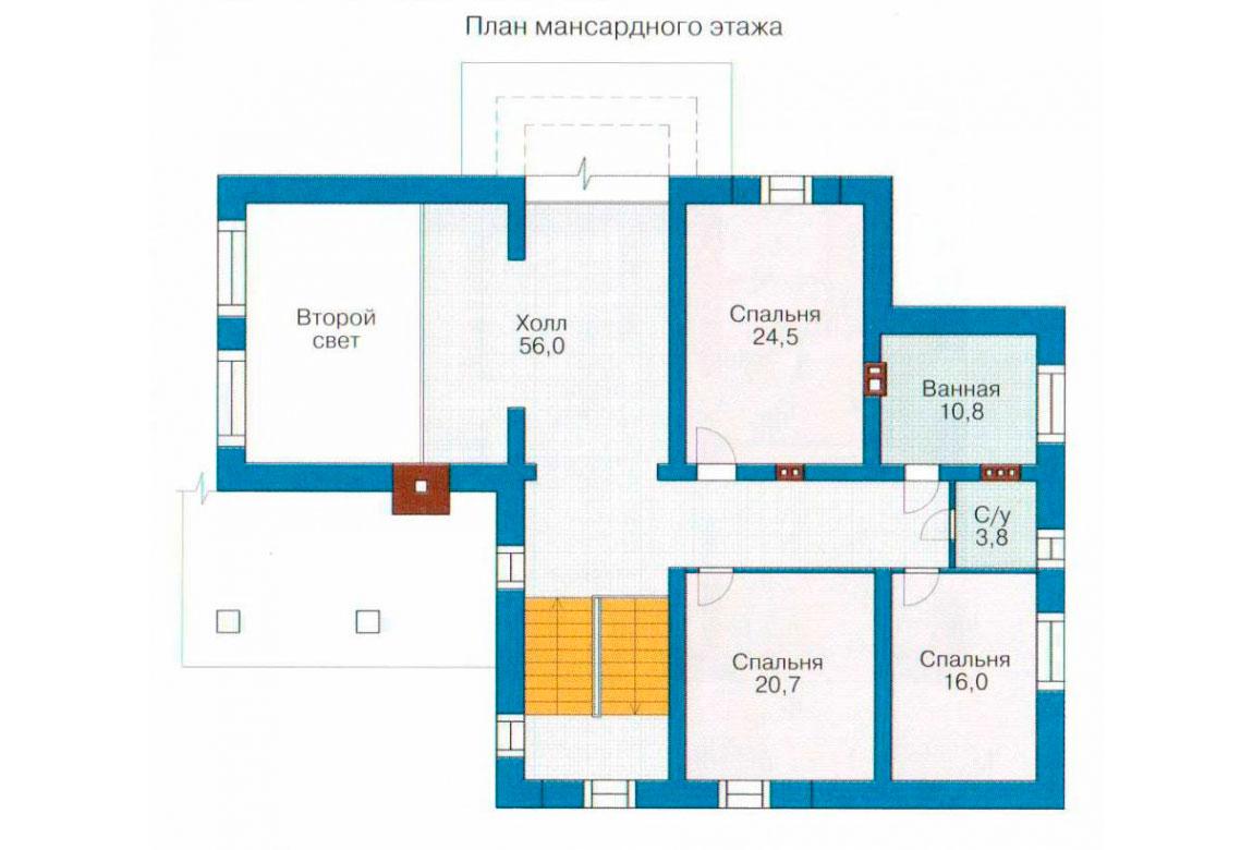 План N1 проекта дома из блоков АСД-1212