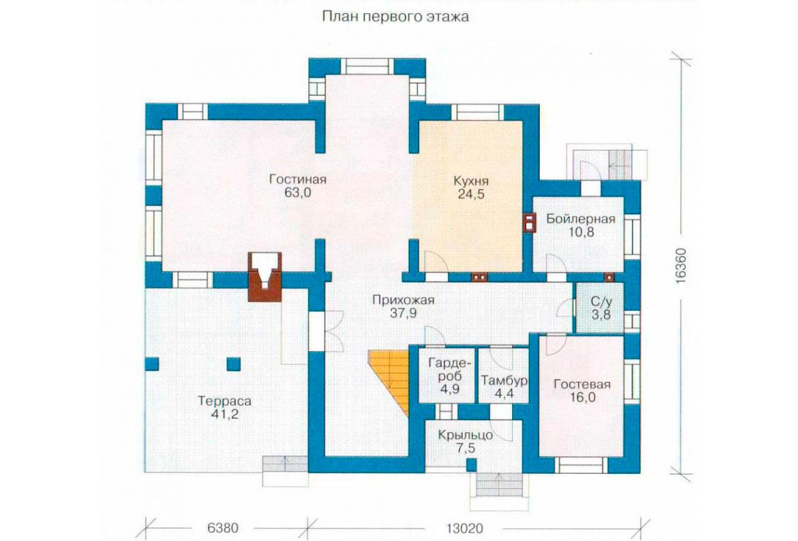 План N2 проекта дома из блоков АСД-1212