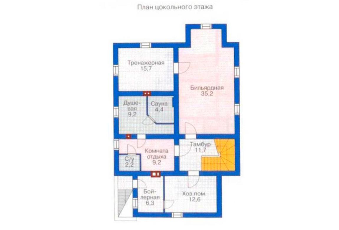 План N1 проекта дома из блоков АСД-1213
