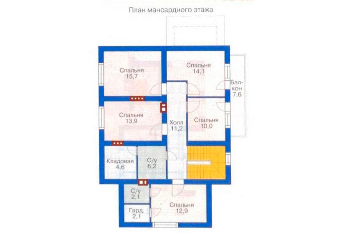 План N3 проекта дома из блоков АСД-1213
