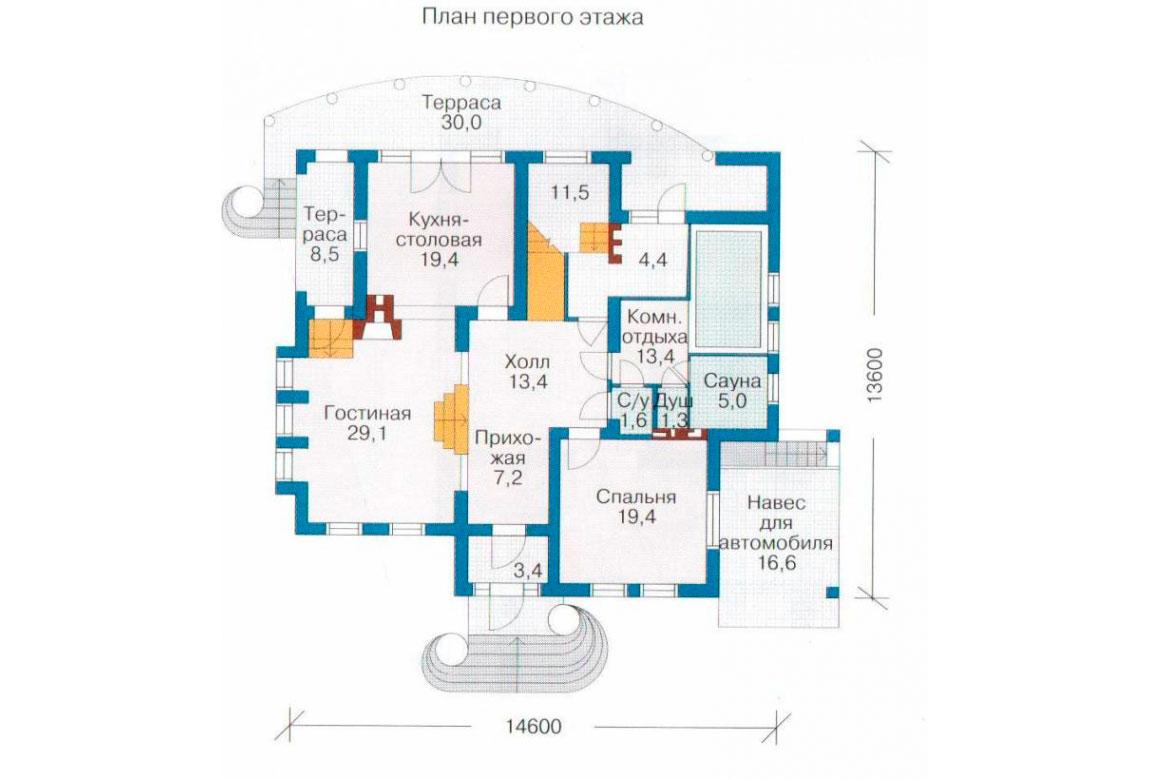 План N2 проекта дома из блоков АСД-1214