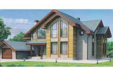 Проект дома из блоков АСД-1215