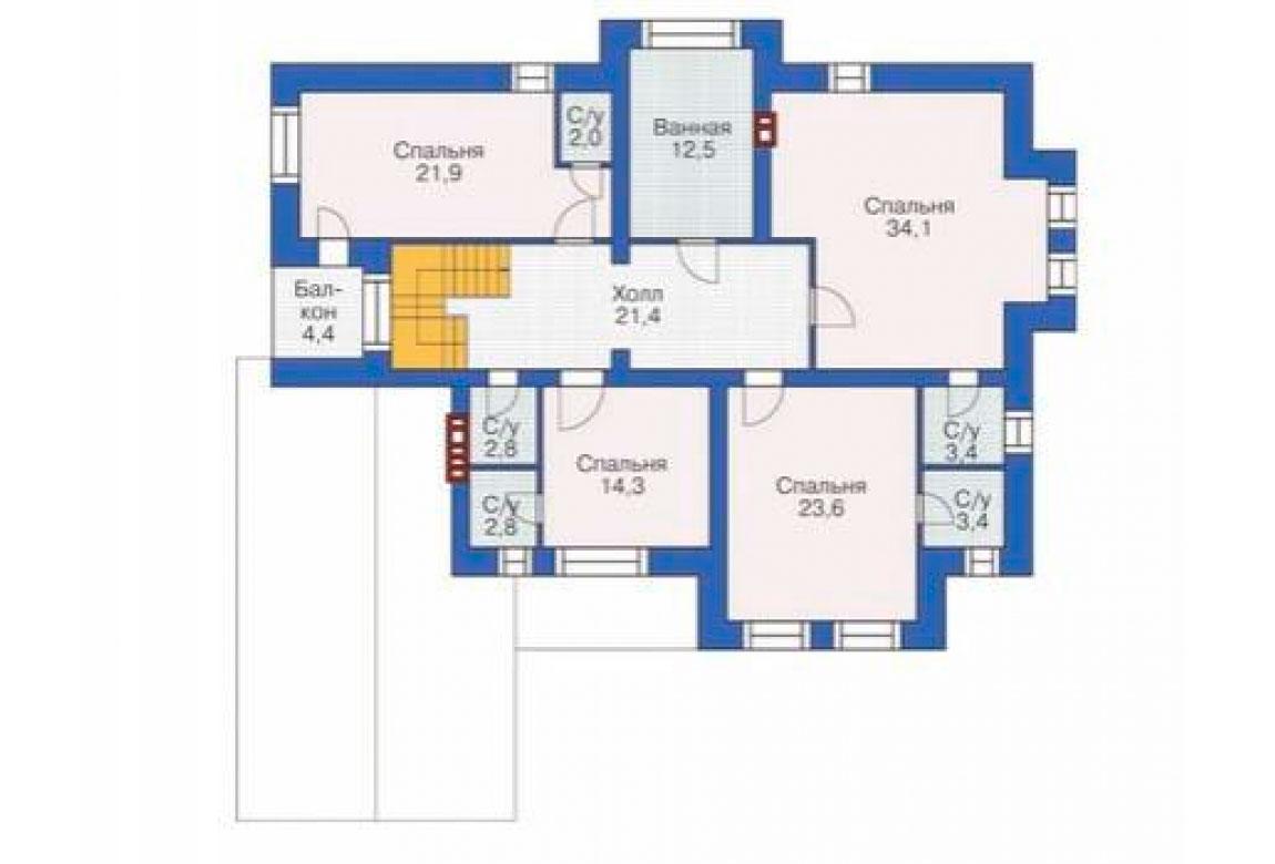 План N2 проекта дома из блоков АСД-1215