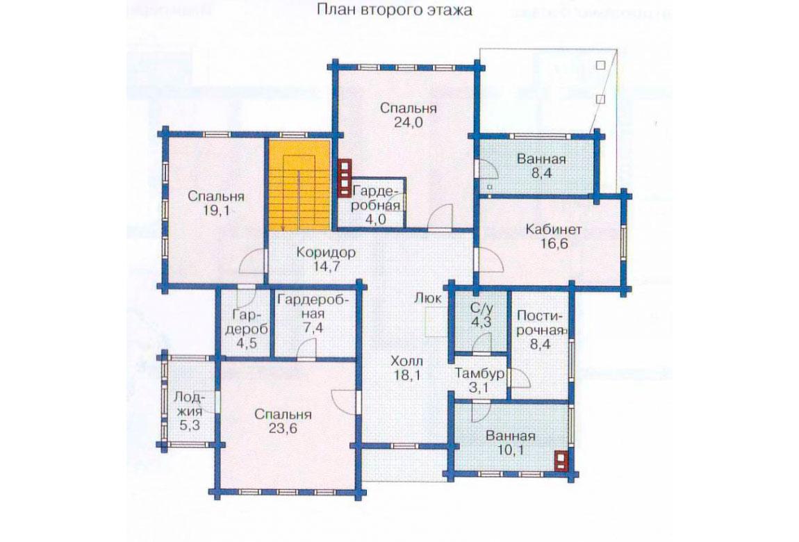 План N1 проекта дома из блоков АСД-1216