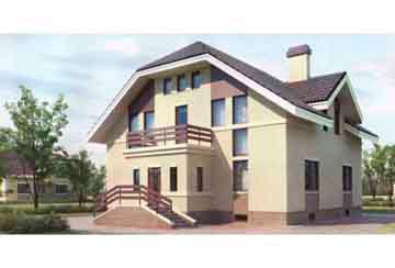 Проект дома из блоков АСД-1217
