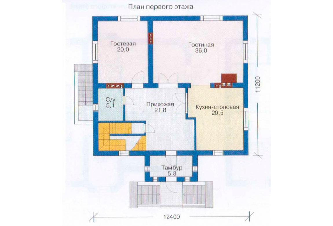 План N2 проекта дома из блоков АСД-1217