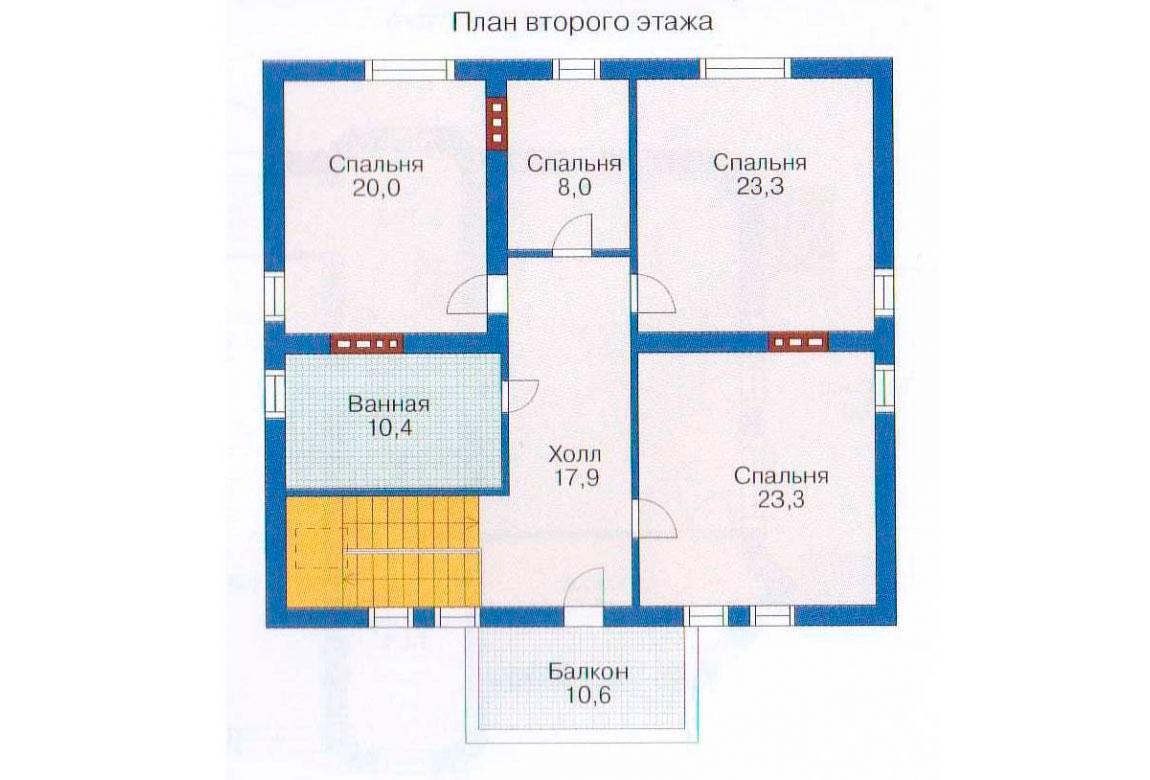 План N3 проекта дома из блоков АСД-1217
