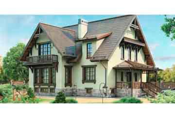 Проект дома из блоков АСД-1218