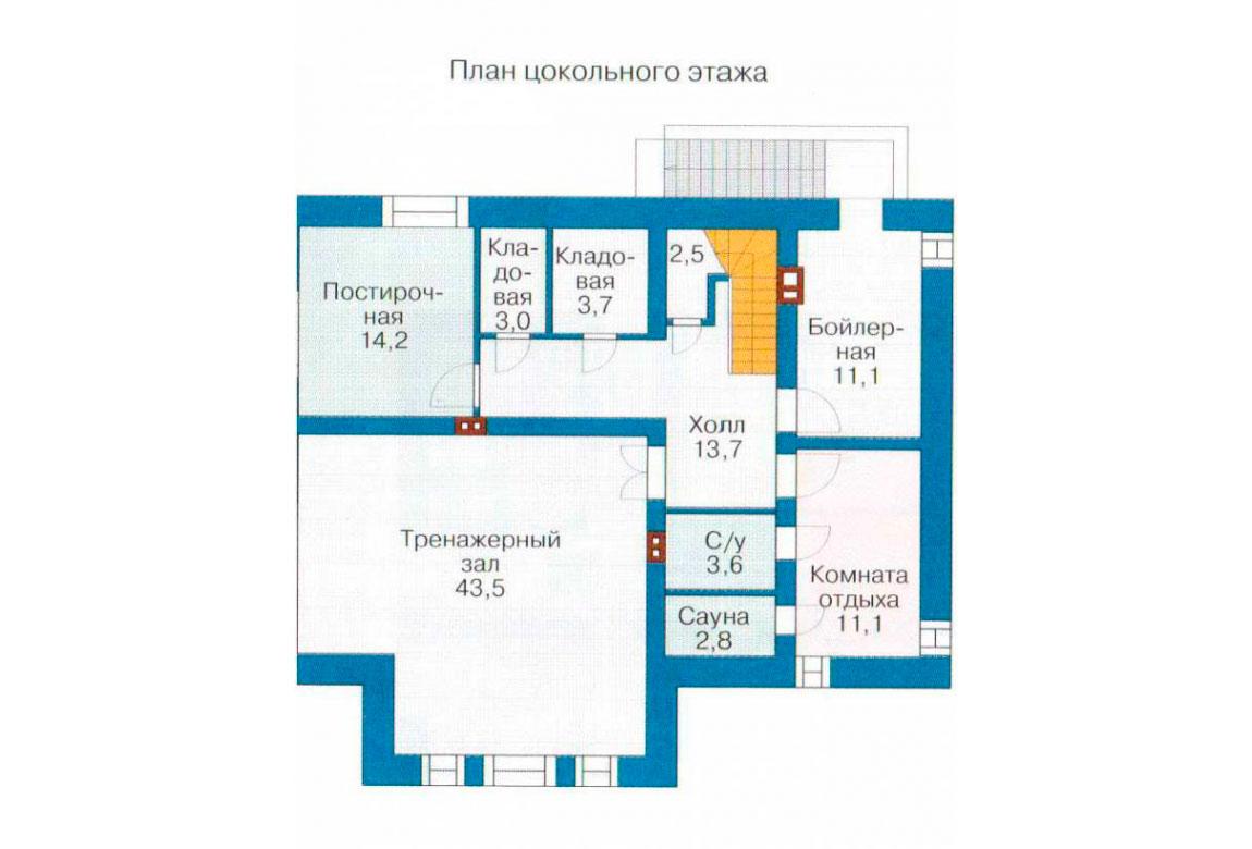 План N1 проекта дома из блоков АСД-1218