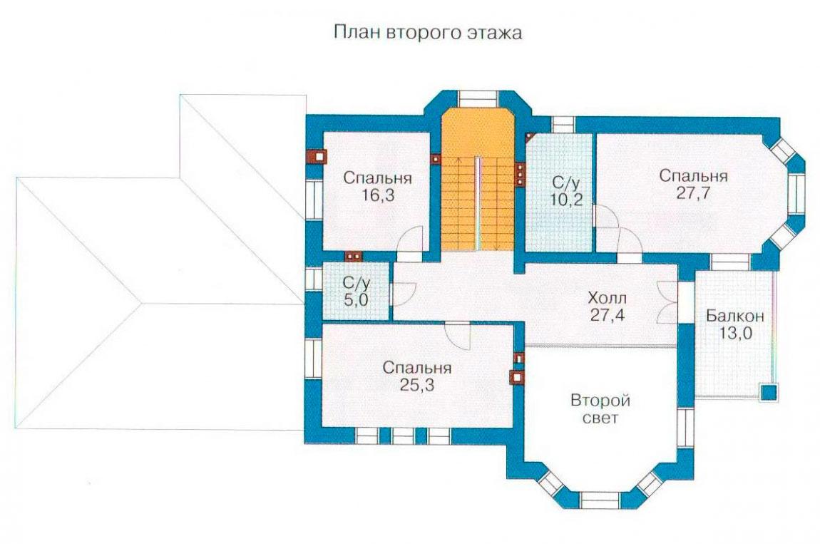 План N1 проекта дома из блоков АСД-1219
