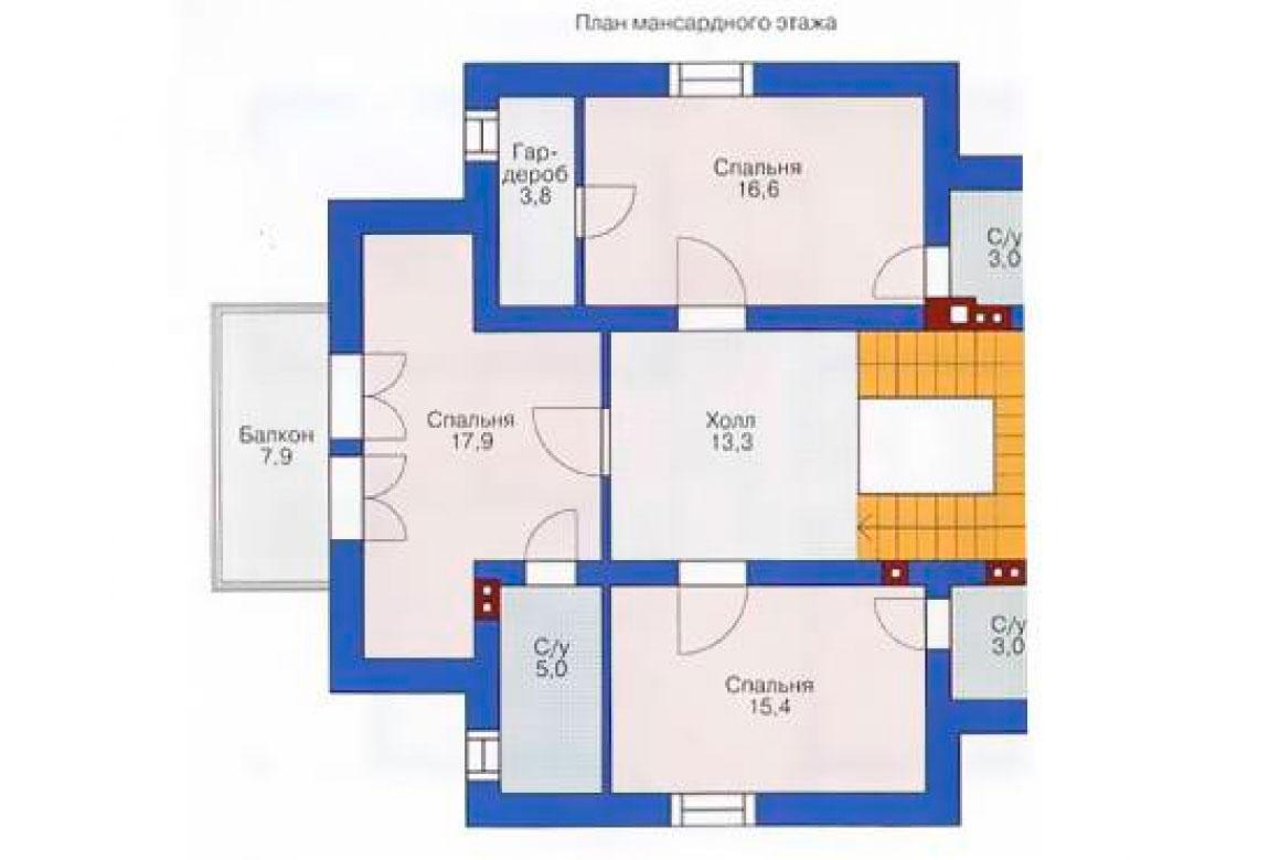 План N2 проекта кирпичного дома АСД-1022