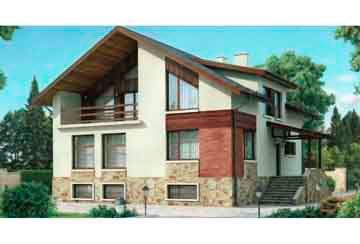 Проект дома из блоков АСД-1220