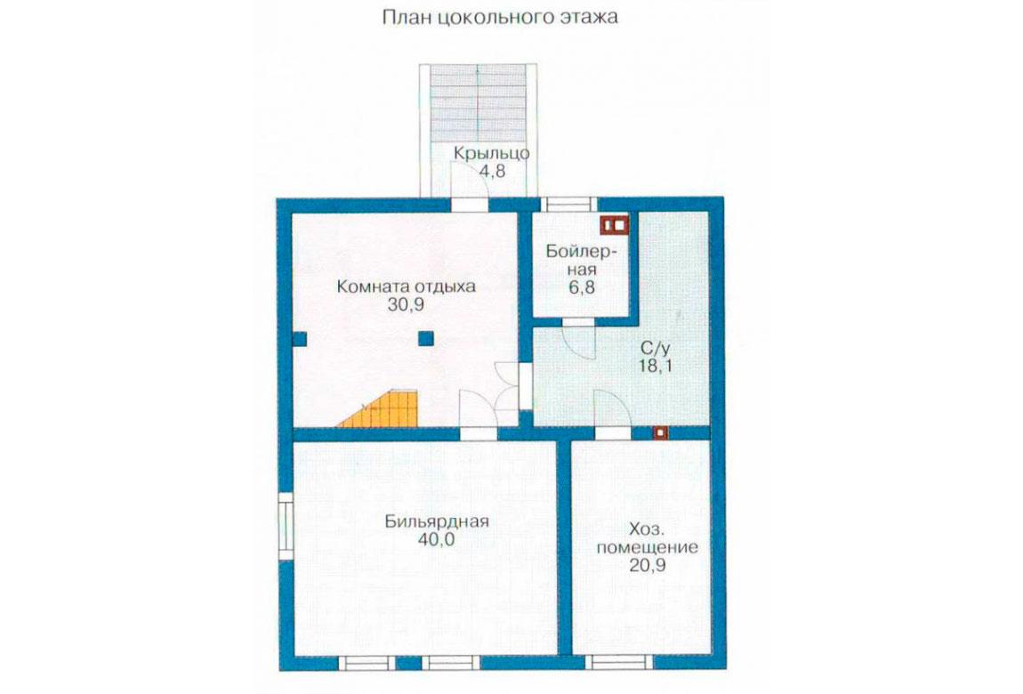 План N3 проекта дома из блоков АСД-1220