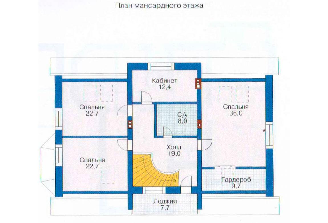 План N1 проекта дома из блоков АСД-1221