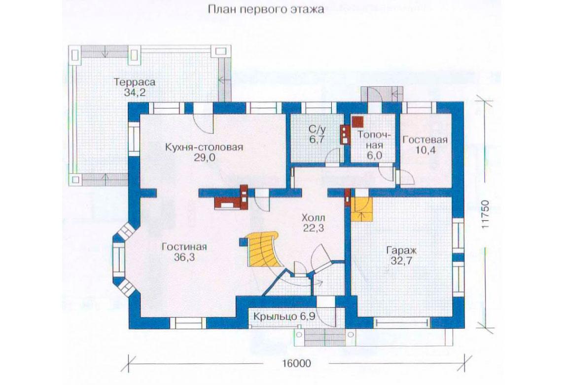План N2 проекта дома из блоков АСД-1221