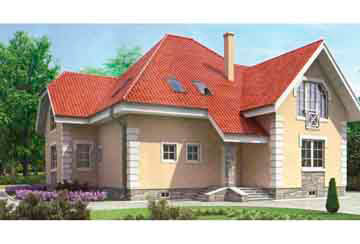 Проект дома из блоков АСД-1222