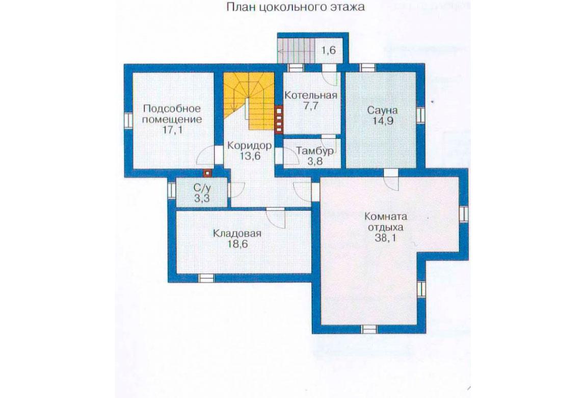 План N1 проекта дома из блоков АСД-1222