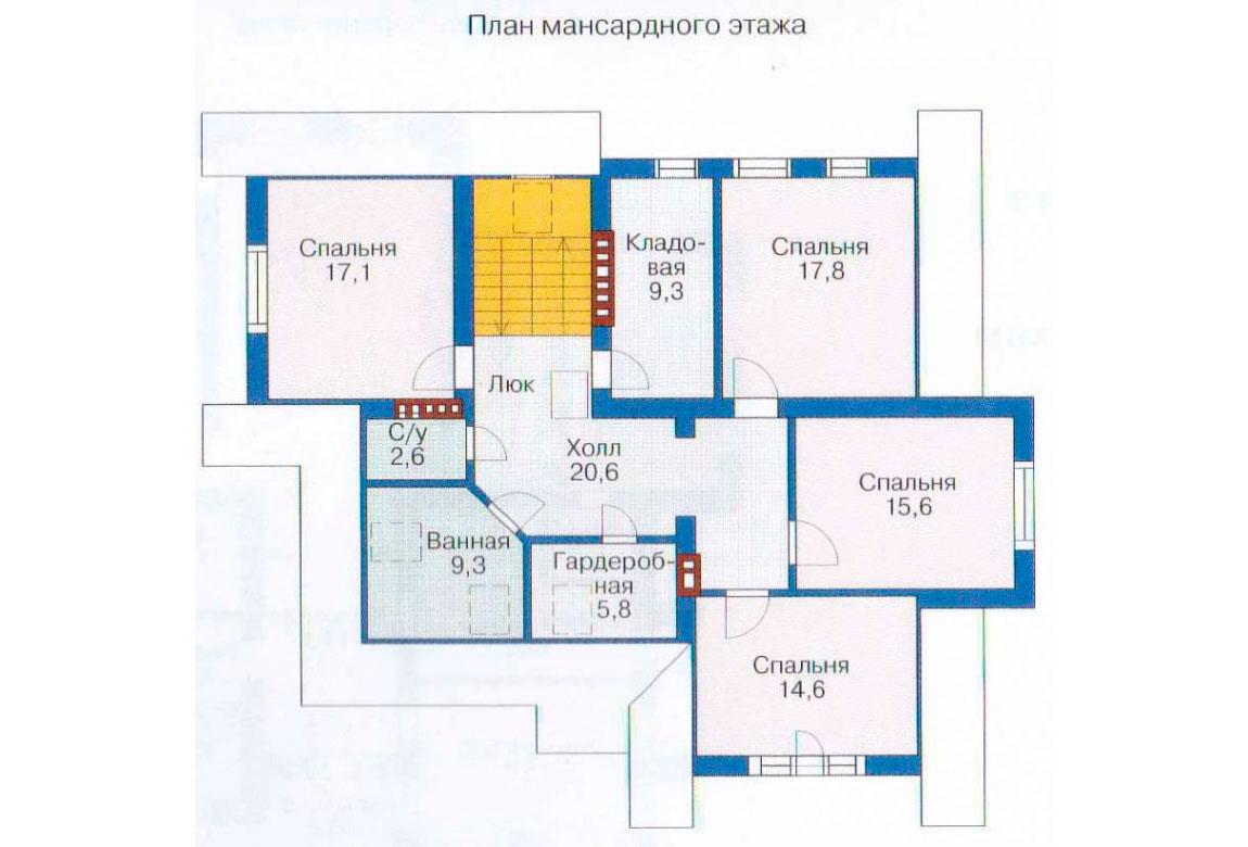 План N3 проекта дома из блоков АСД-1222
