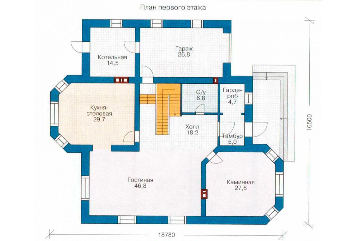 План N2 проекта дома из блоков АСД-1223