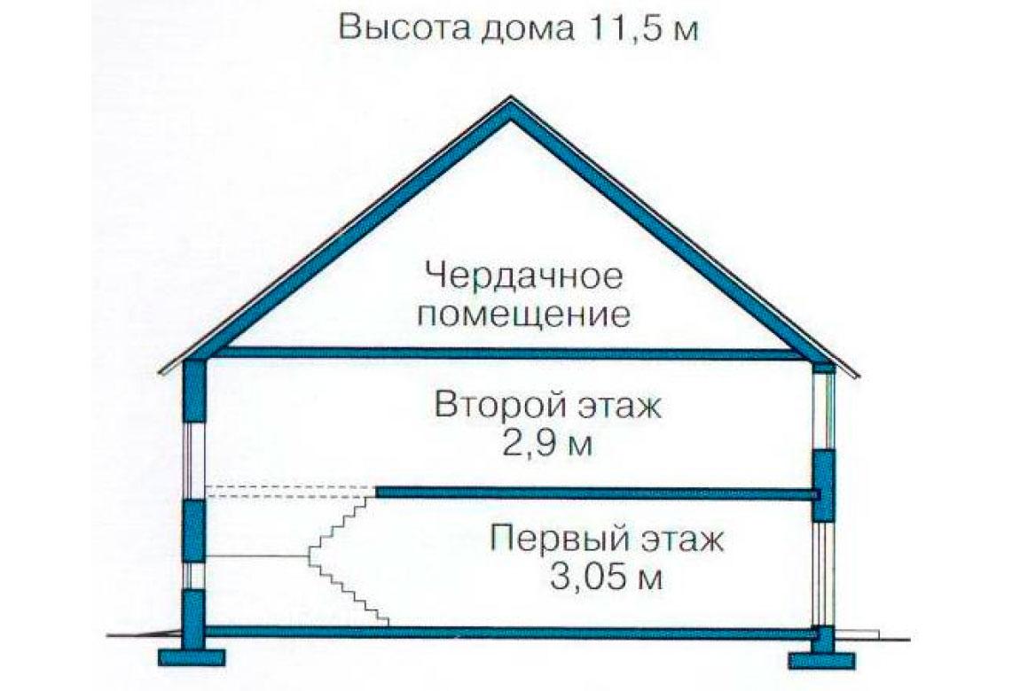 План N3 проекта дома из блоков АСД-1223