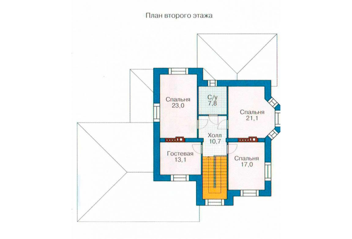 План N1 проекта дома из блоков АСД-1224