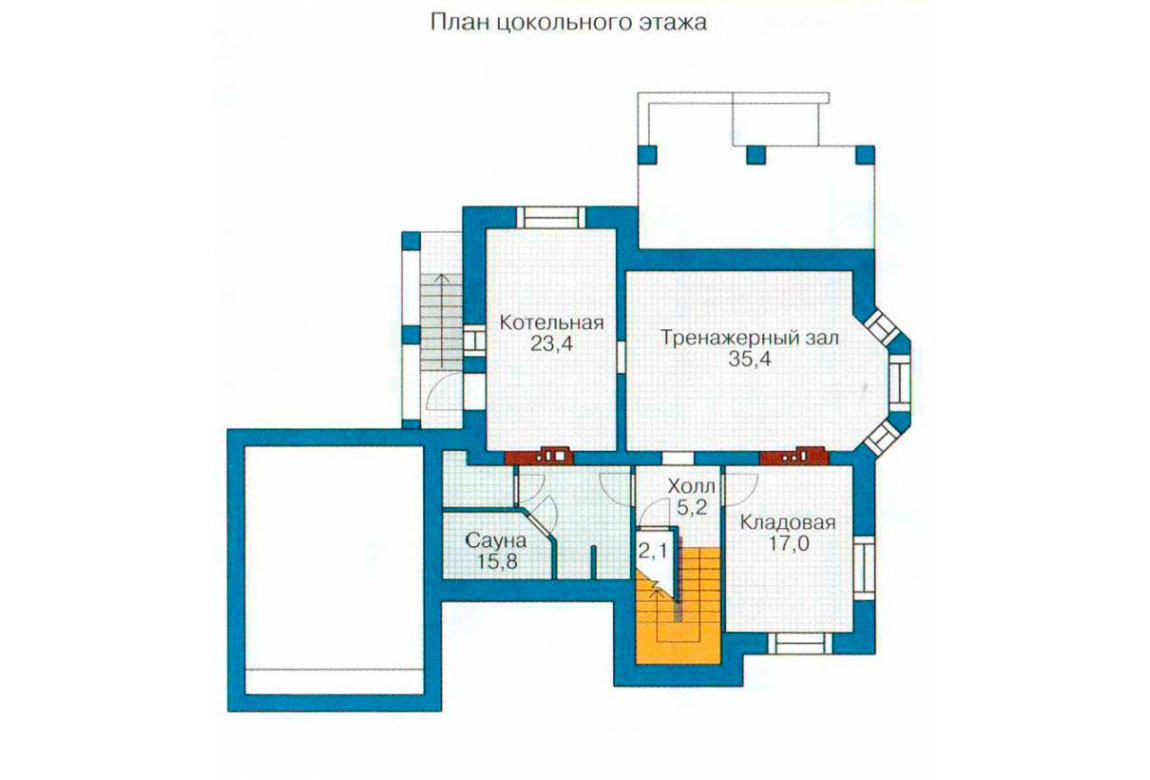 План N3 проекта дома из блоков АСД-1224