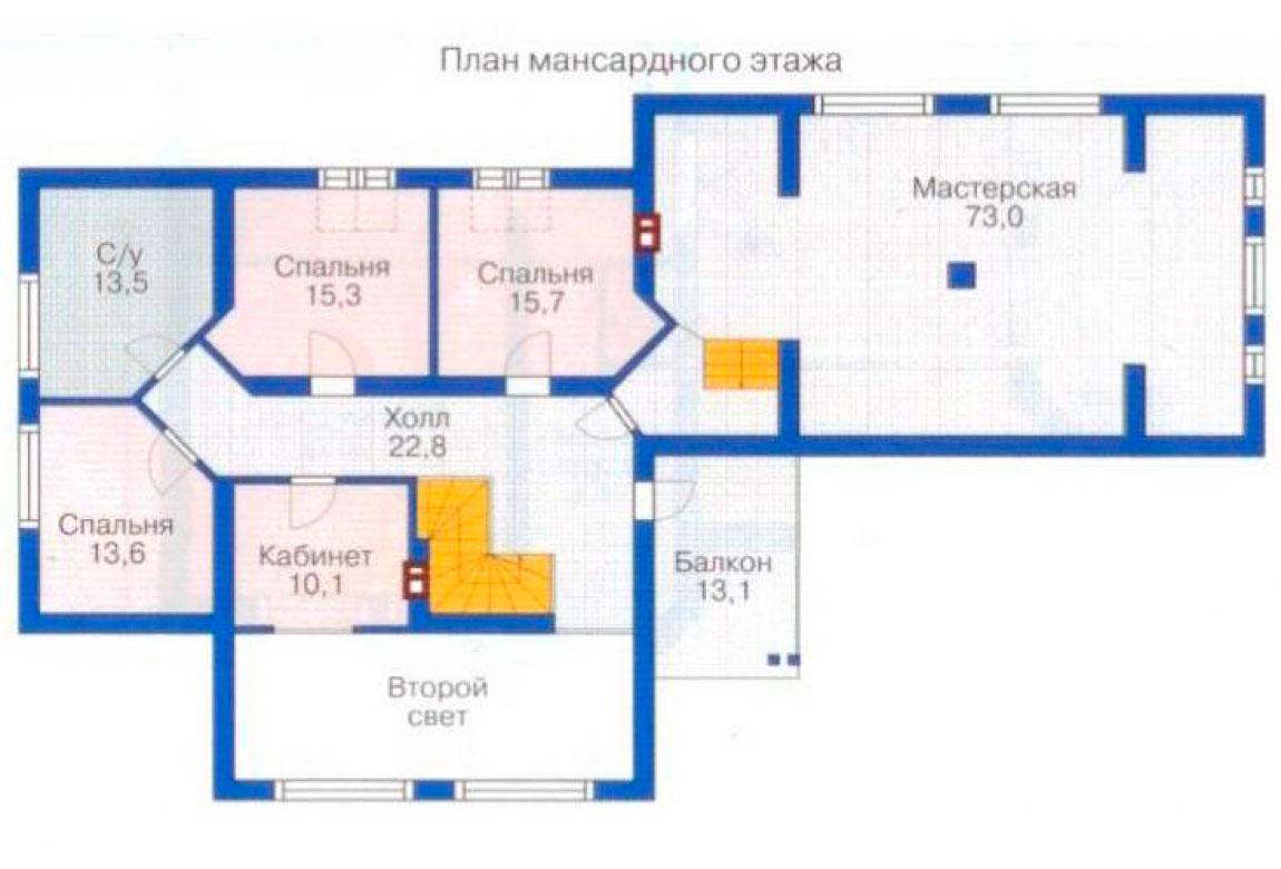 План N2 проекта дома из блоков АСД-1225