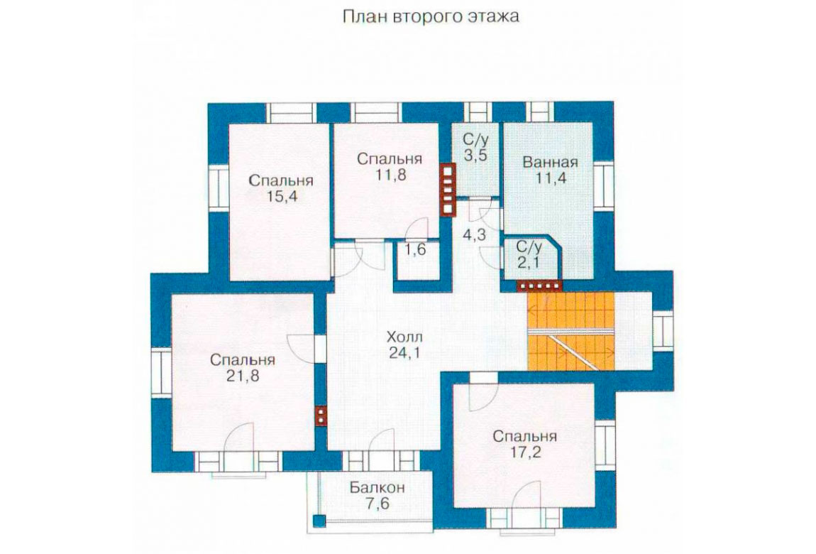 План N2 проекта дома из блоков АСД-1226