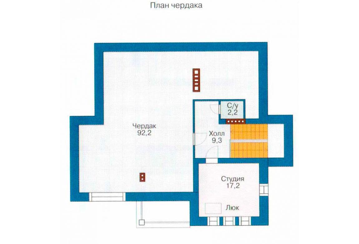 План N3 проекта дома из блоков АСД-1226