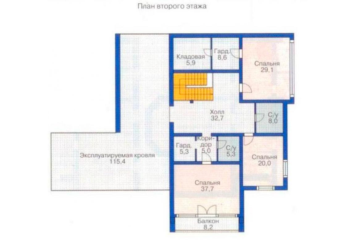 План N2 проекта дома из блоков АСД-1227