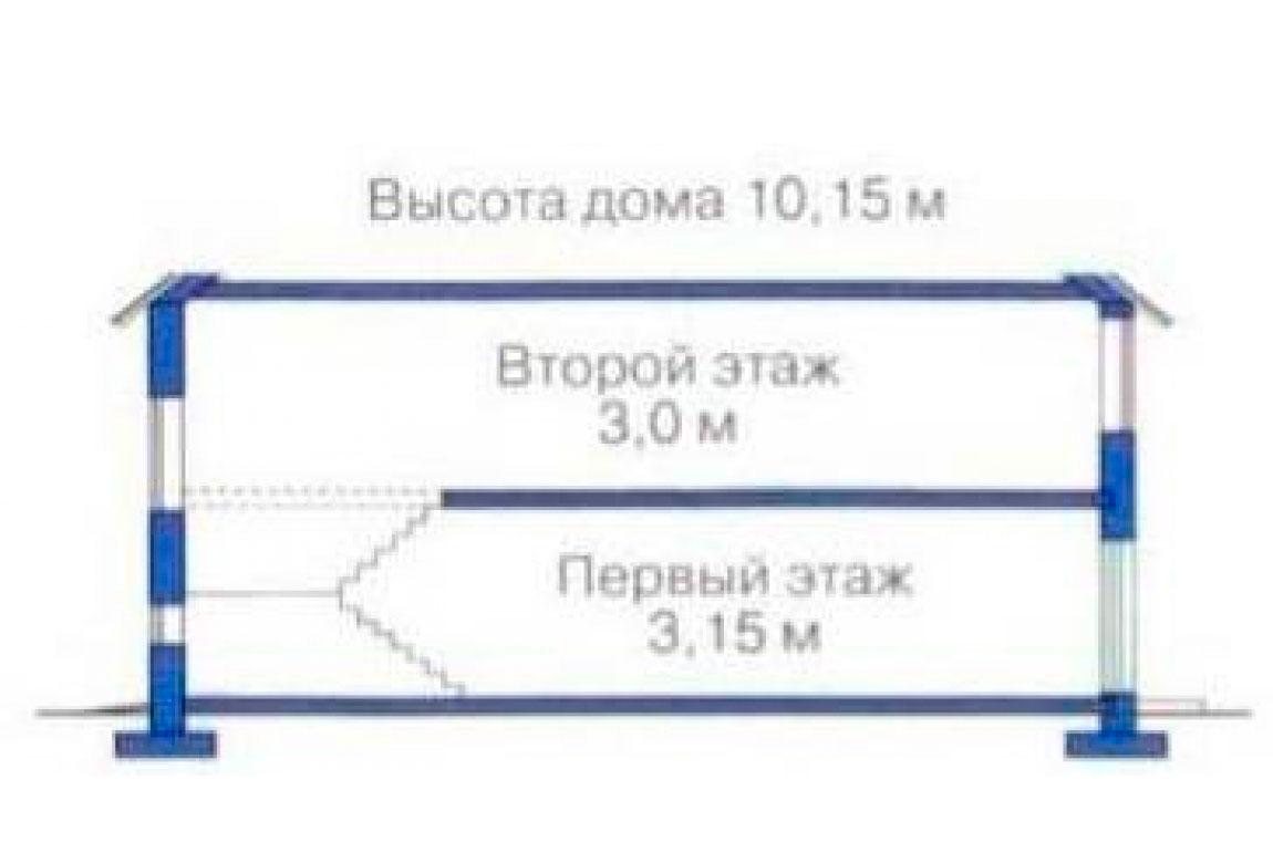 План N3 проекта дома из блоков АСД-1227