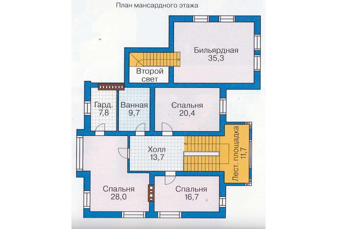 План N1 проекта дома из блоков АСД-1228