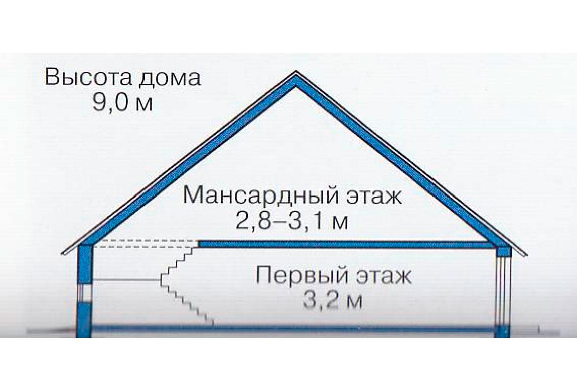 План N3 проекта дома из блоков АСД-1228