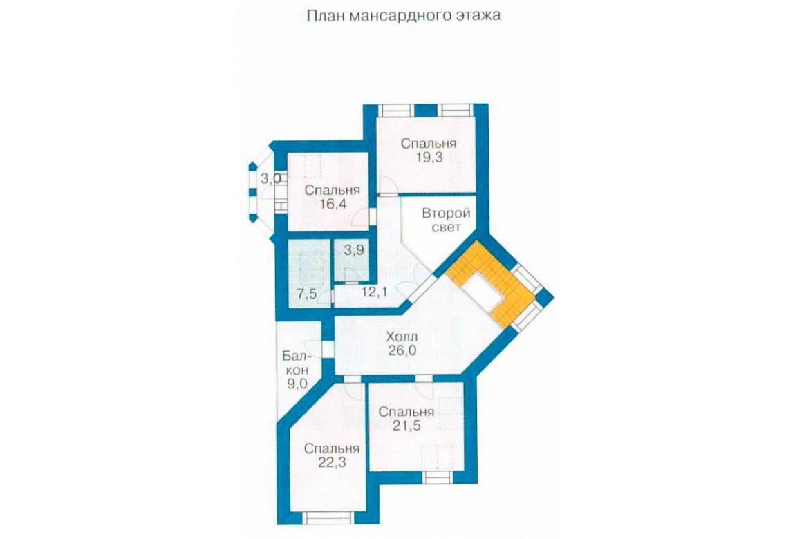 План N2 проекта дома из блоков АСД-1229