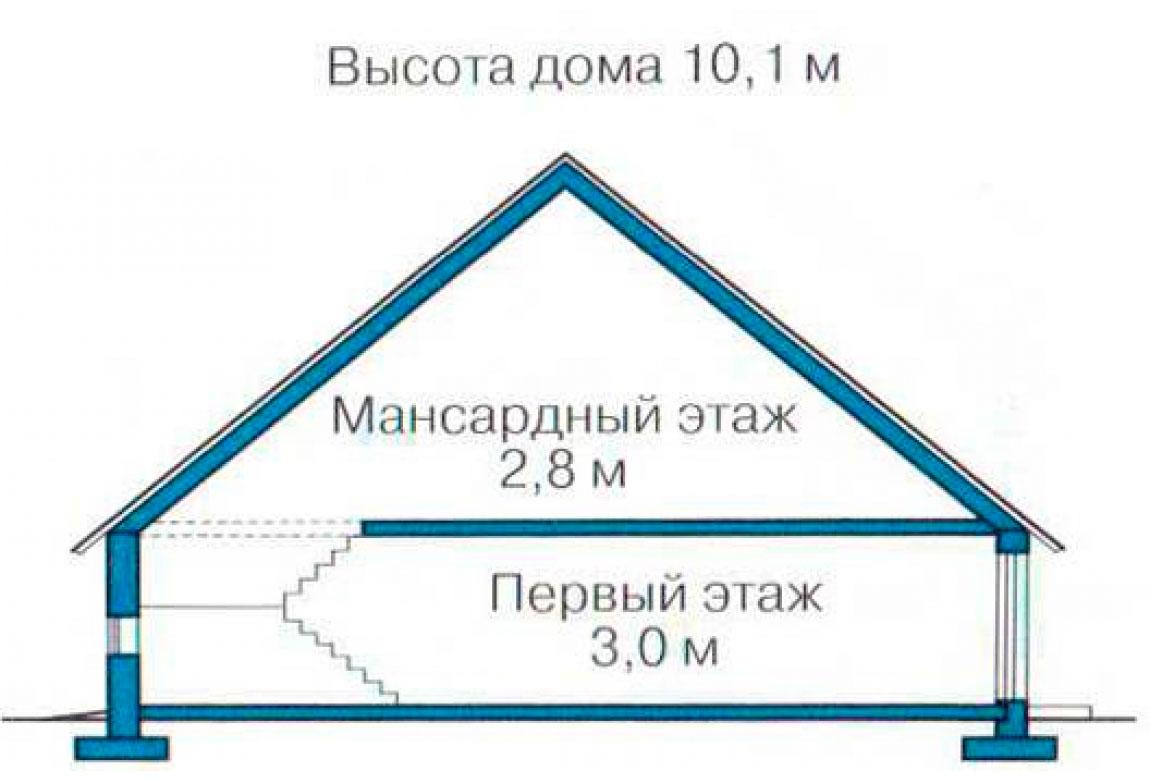 План N3 проекта дома из блоков АСД-1229