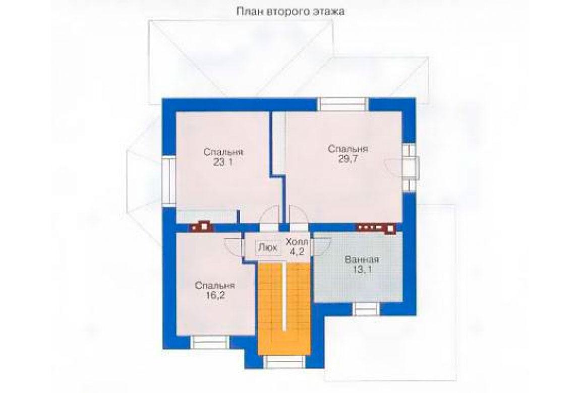 План N2 проекта кирпичного дома АСД-1023