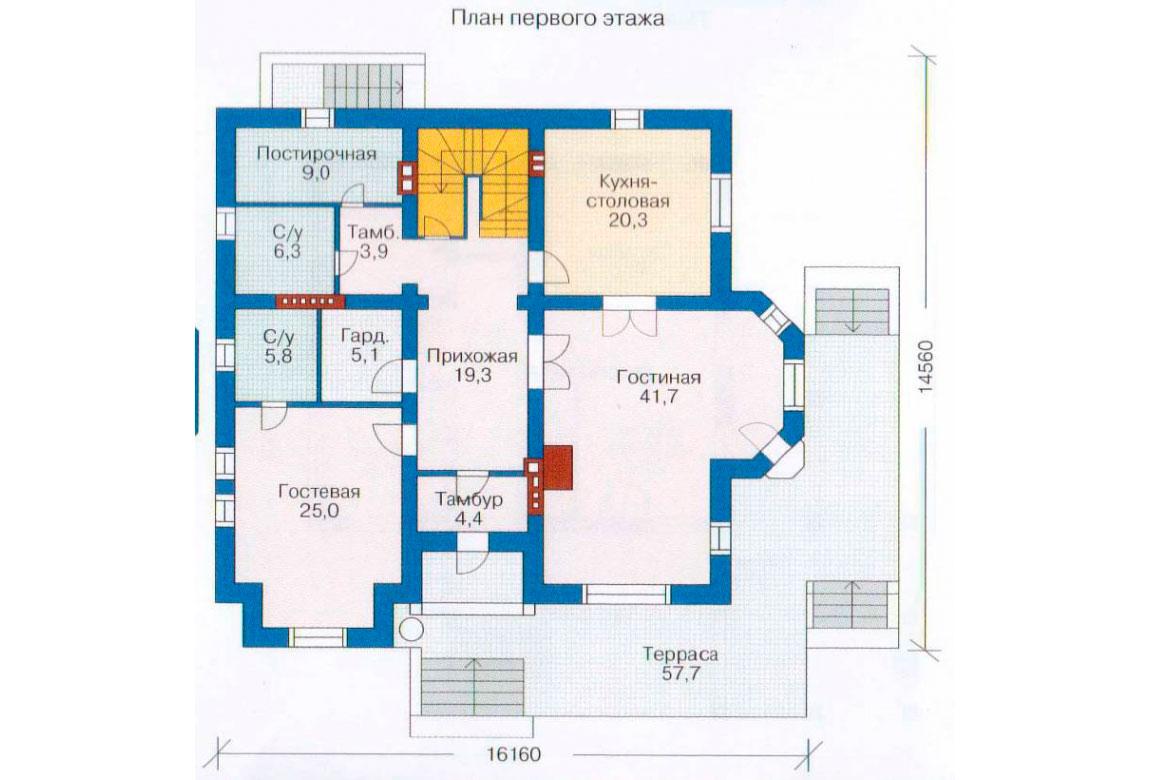 План N2 проекта ВИП дома АСД-1232