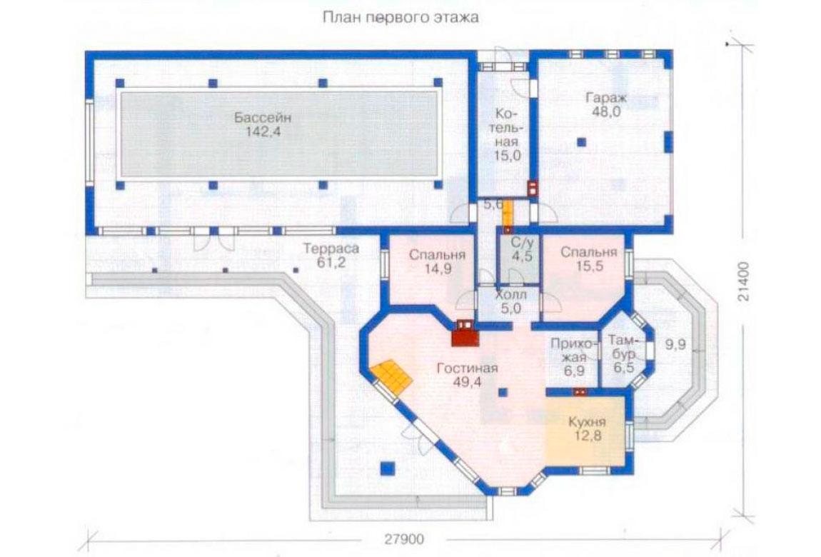 План N1 проекта ВИП дома АСД-1234