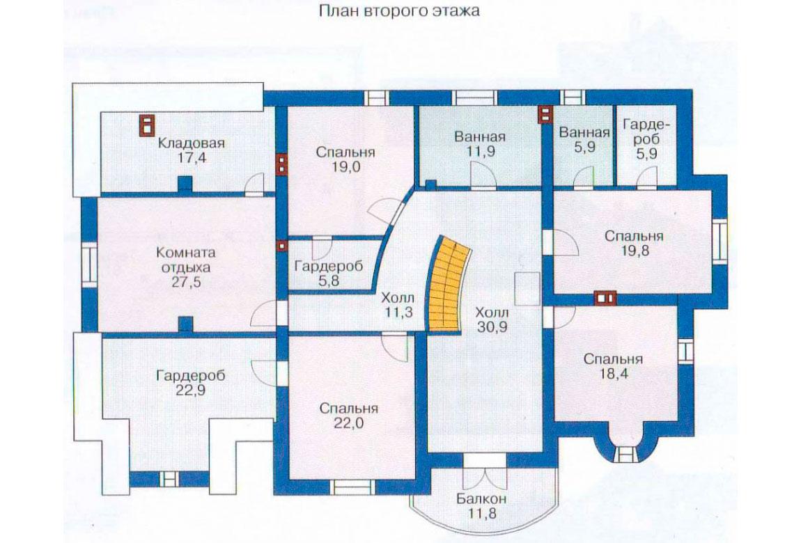 План N1 проекта ВИП дома АСД-1235