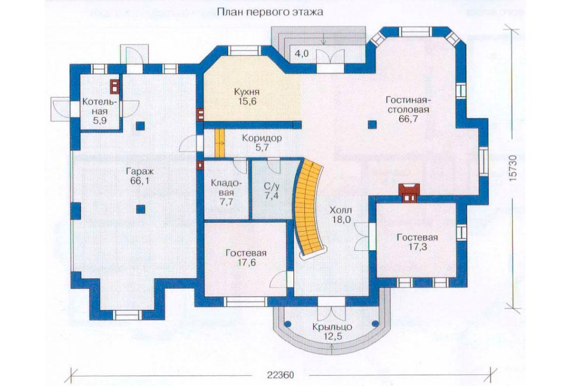 План N2 проекта ВИП дома АСД-1235