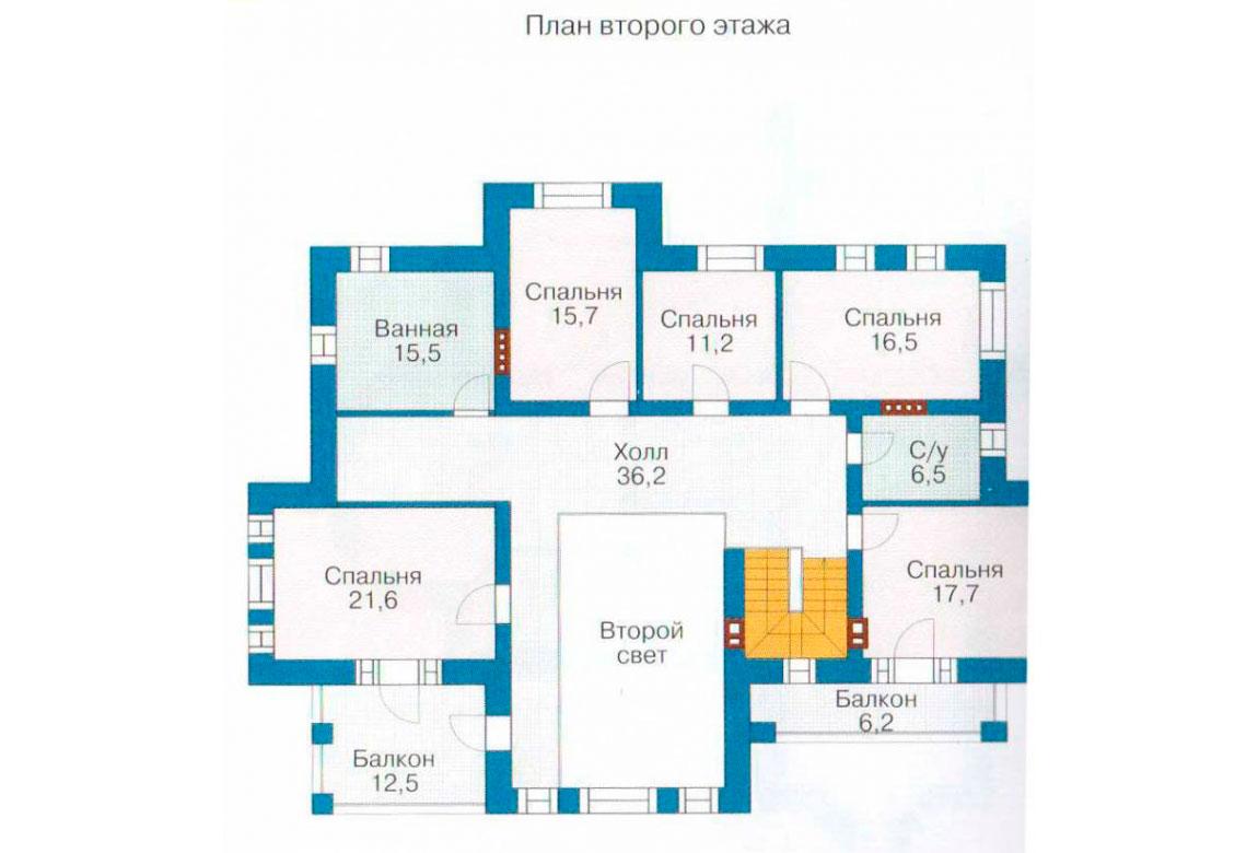 План N1 проекта ВИП дома АСД-1236