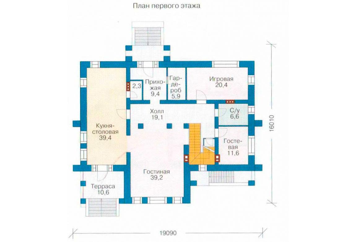 План N2 проекта ВИП дома АСД-1236