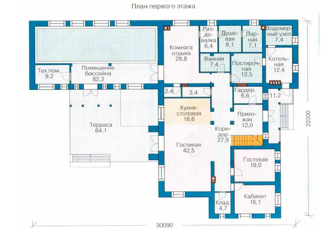 План N1 проекта ВИП дома АСД-1238