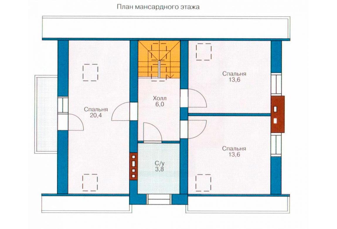 План N1 проекта дома из СИП-панелей АСД-1239