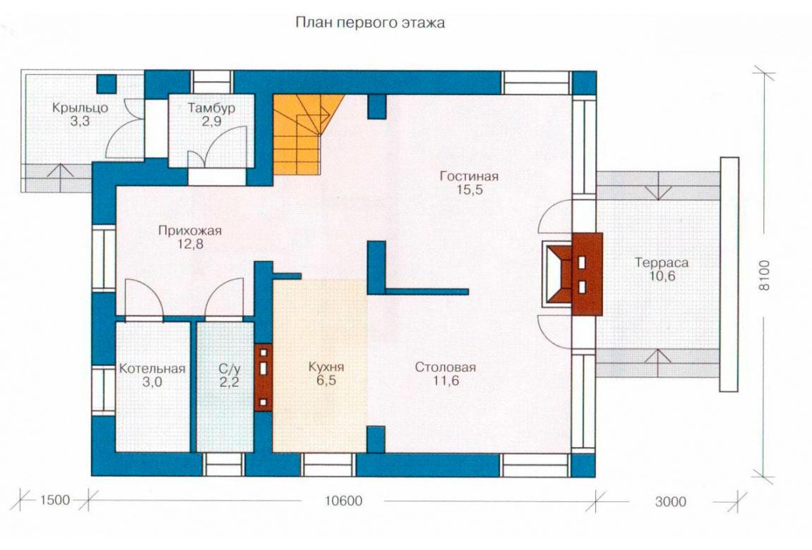 План N2 проекта дома из СИП-панелей АСД-1239